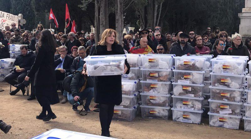 Emotivo acto institucional del memorial a las víctimas del franquismo.